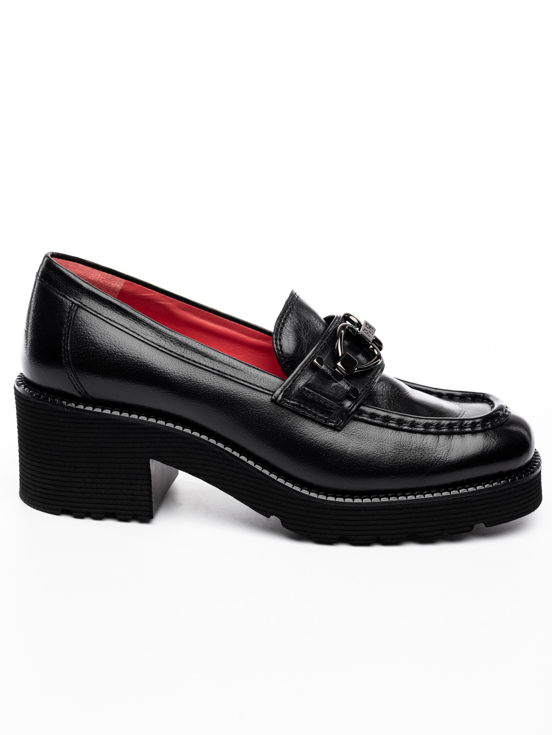 SALMA Δερμάτινα Loafers Με Τακούνι