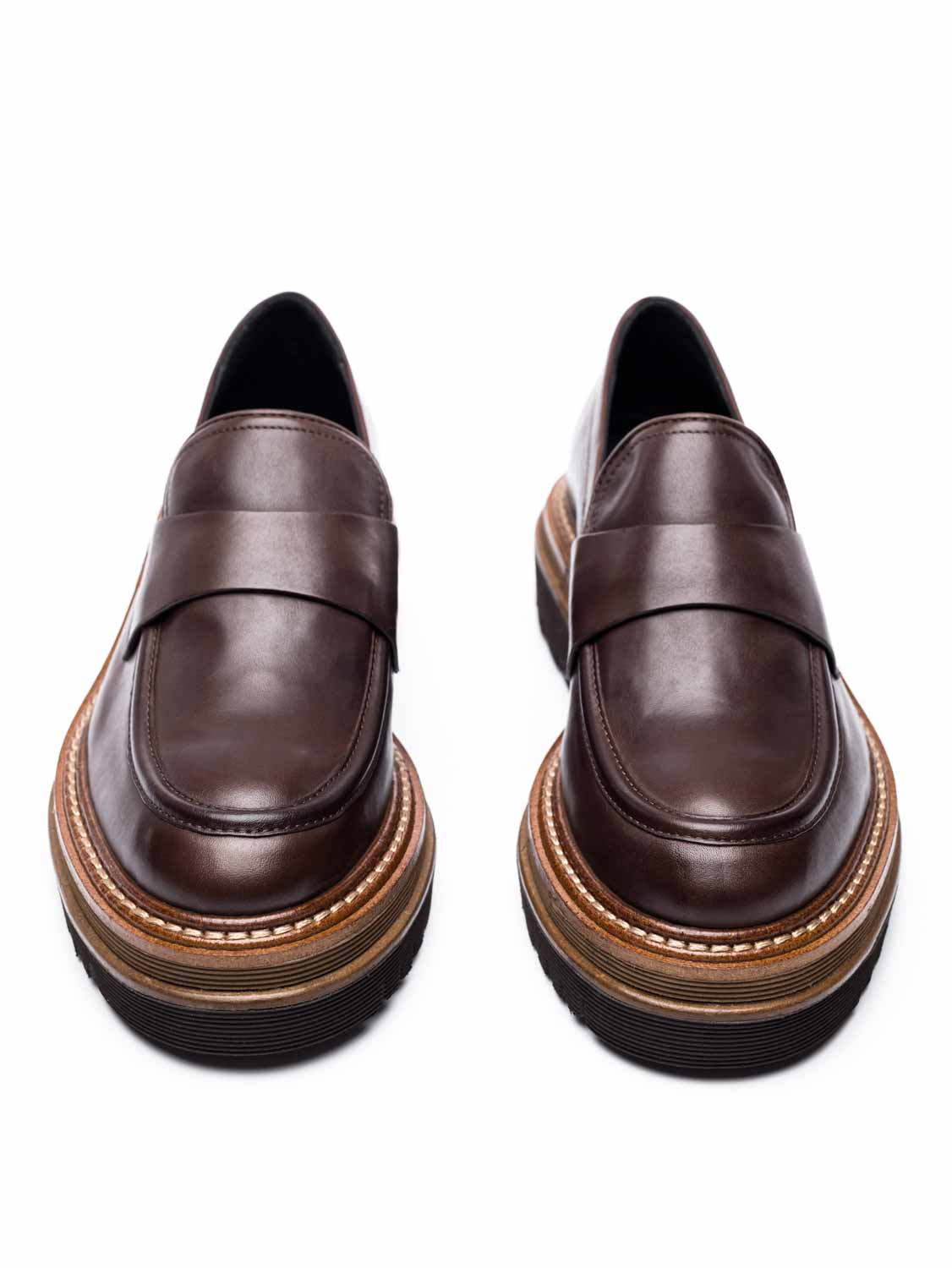Chunky Δερμάτινα Loafers